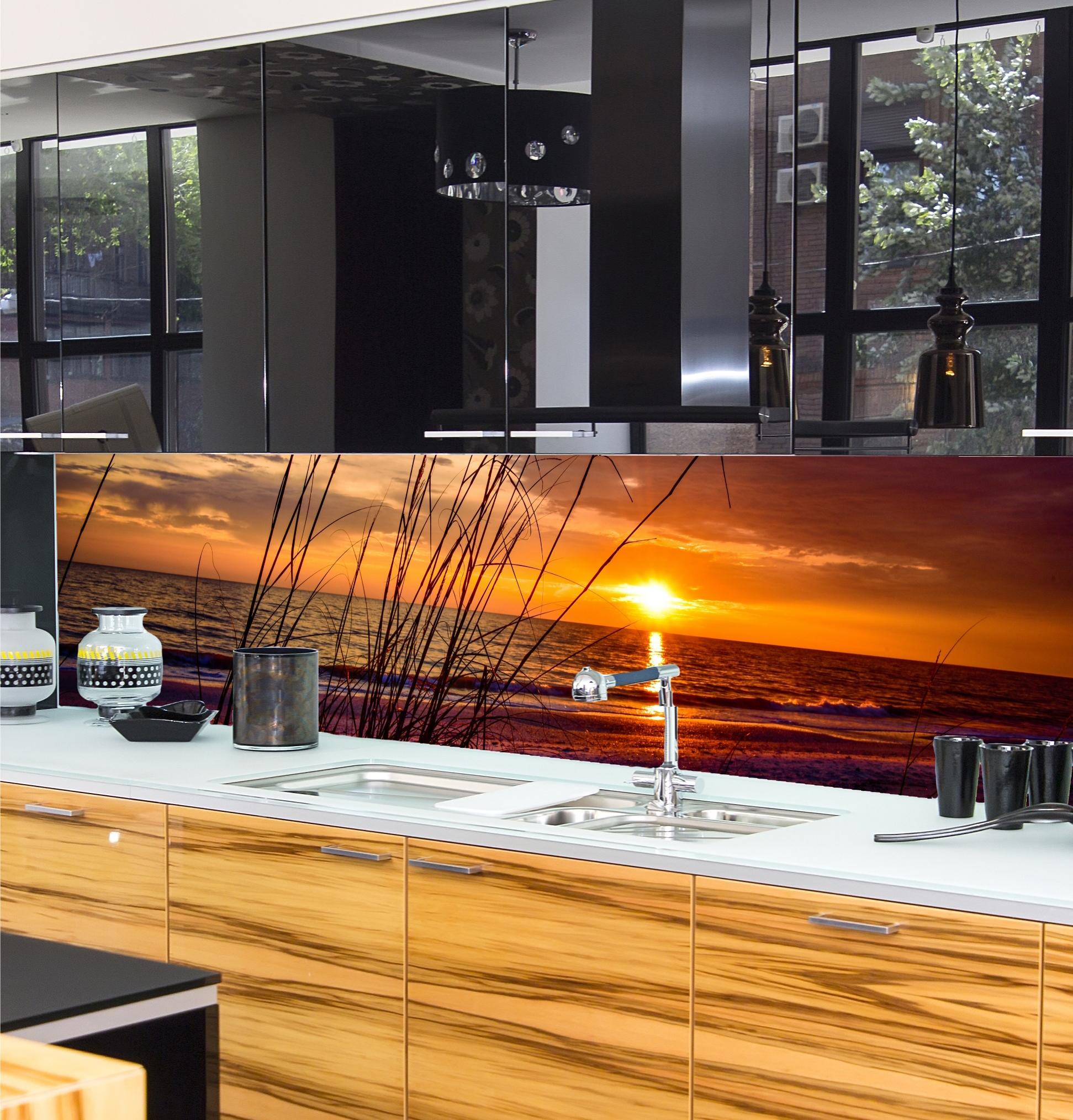 Kuchenruckwand nach mass kuchenruckwand spritzschutz for Küchenrückwand motiv