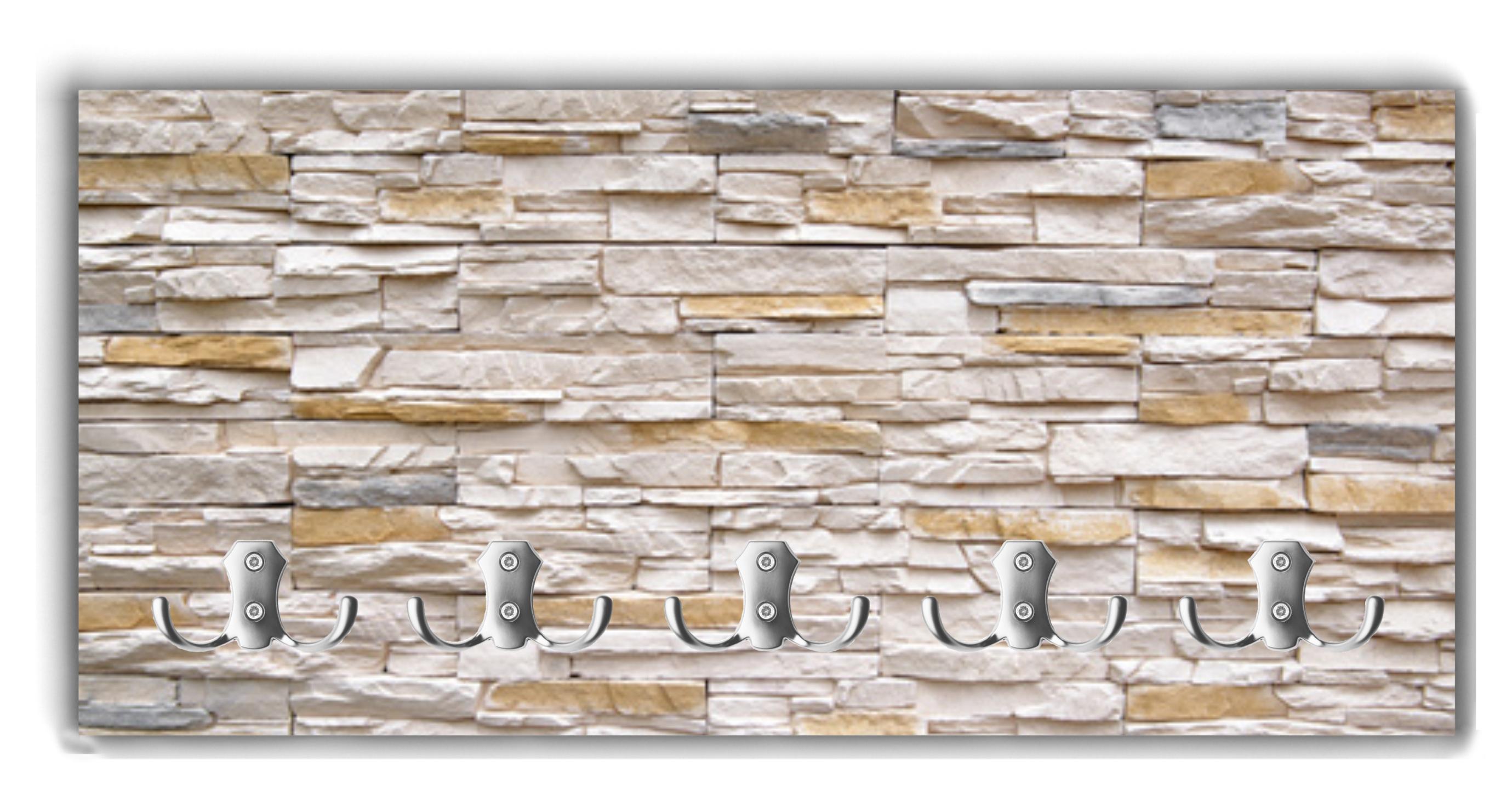 Holzgarderobe - Kuchenruckwand steinoptik ...